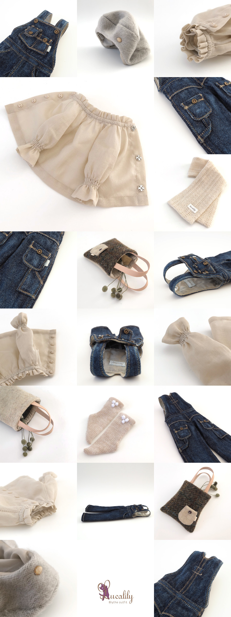 * lucalily * dolls clothes * Overalls set *_d0217189_19441025.jpg