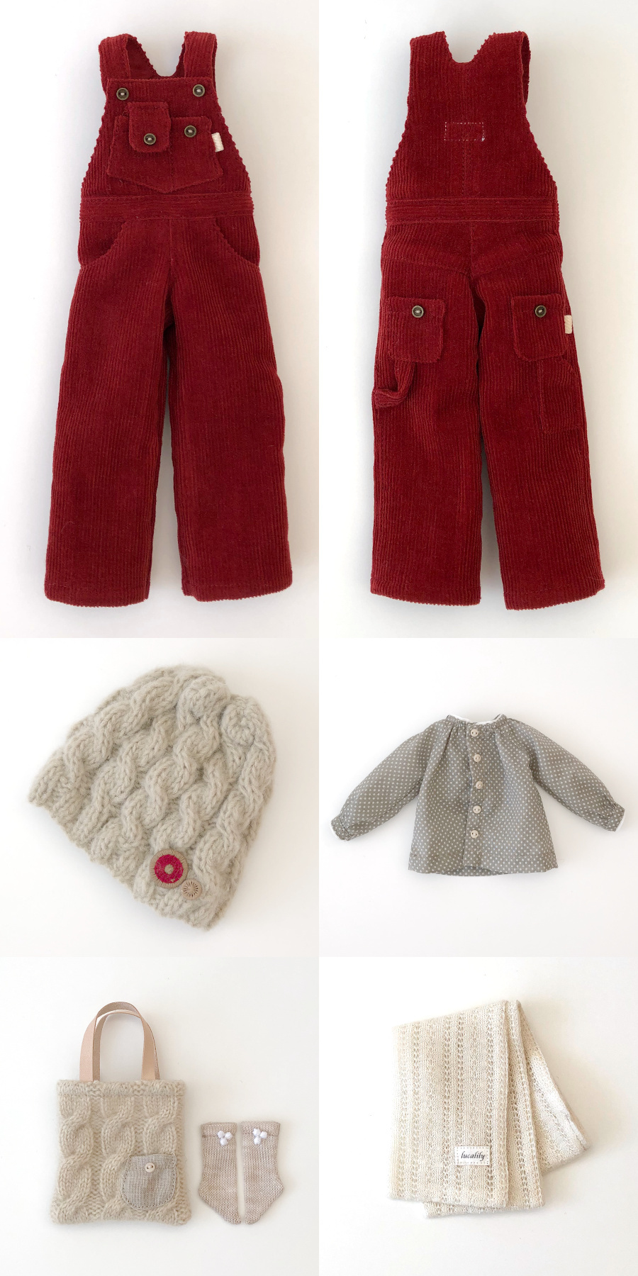 * lucalily * dolls clothes * Corduroy Overalls set *_d0217189_19463471.jpg