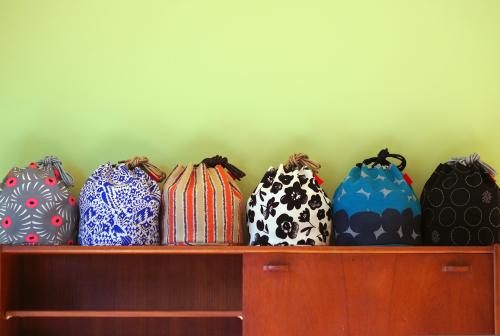 「kinchaku bag」いろんな素材で6タイプ_e0243765_22353501.jpg