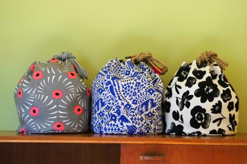 「kinchaku bag」いろんな素材で6タイプ_e0243765_22392418.jpg