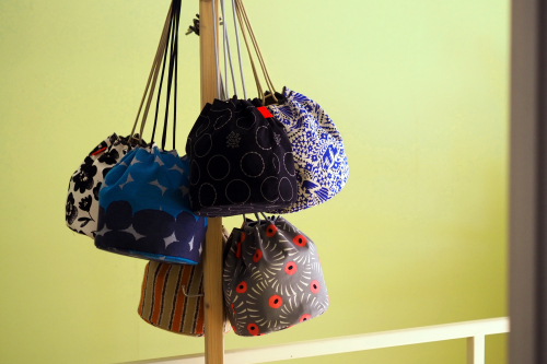 「kinchaku bag」いろんな素材で6タイプ_e0243765_22401410.jpg