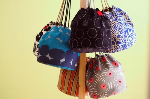 「kinchaku bag」いろんな素材で6タイプ_e0243765_22403068.jpg
