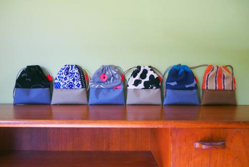 「kinchaku bag」いろんな素材で6タイプ_e0243765_22420876.jpg