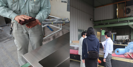 SUSオーダーキッチン製作所へ_b0183404_20302110.jpg