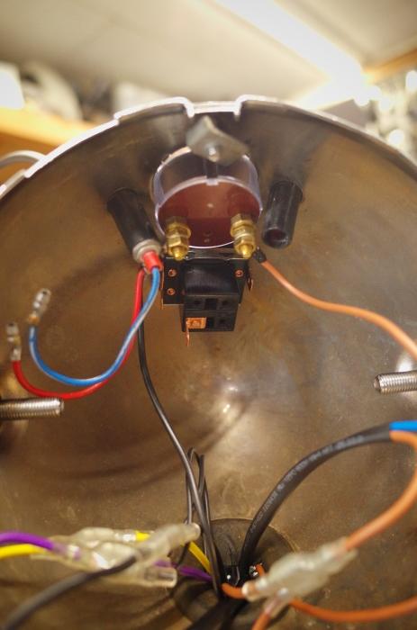 1963 TRIUMPH T120 配線引き直し作業完了、エンジン始動_a0248662_08133577.jpg