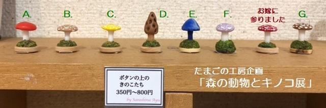 たまごの工房企画「森の動物とキノコ展」その6_e0134502_19291771.jpeg