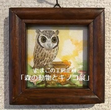 たまごの工房企画「森の動物とキノコ展」その6_e0134502_19301696.jpeg