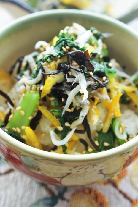 ■柚子香る常備菜【簡単5分!!大根葉メインで作る 何に振りかけても美味しい一品です^^】_b0033423_21015375.jpg