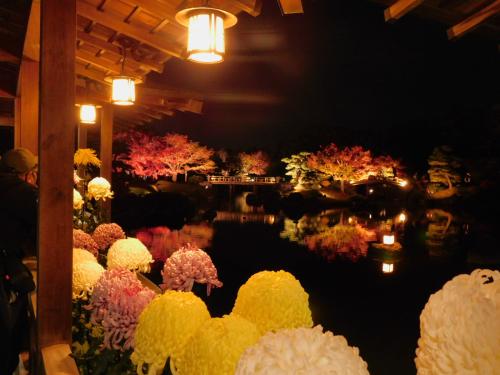 大仙公園の日本庭園のライトアップ_e0136066_17355535.jpg