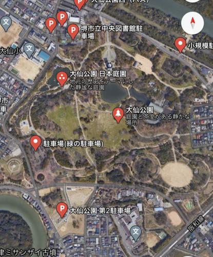大仙公園の日本庭園のライトアップ_e0136066_17371221.jpg