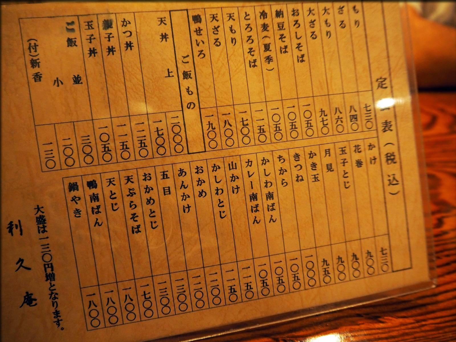 老舗蕎麦処・利久庵で蕎麦@日本橋室町_b0054329_09250247.jpg