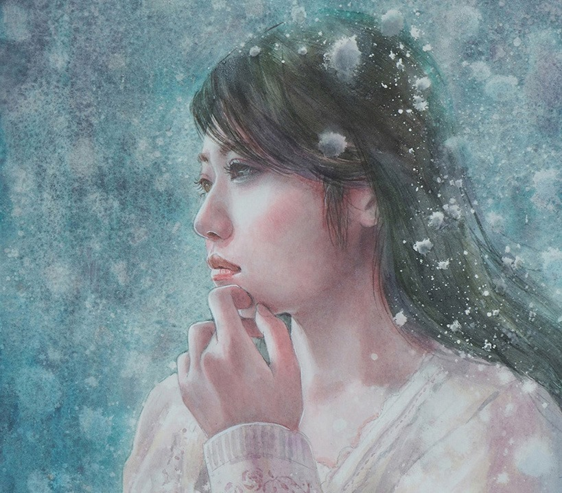 作品☆F4号「雪の華」一部分_e0115223_15322982.jpg