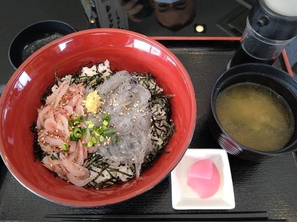 11/22 しらすの八幡富士店 二色丼生¥1,100 ⇒ ¥100_b0042308_23550918.jpg