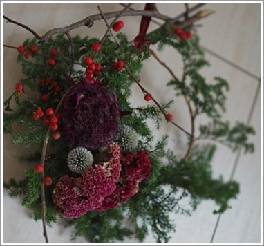 壁作品のクリスマスリース_e0151254_11321106.jpg