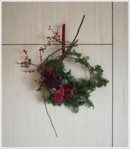壁作品のクリスマスリース_e0151254_20413707.jpg