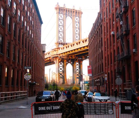 ブルックリン、DUMBOのお勧め写真スポットへ近づいていく動画_b0007805_02083571.jpg