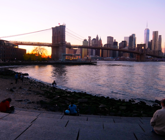 ブルックリン・ブリッジ・パークから眺める日没のマンハッタン_b0007805_02190405.jpg