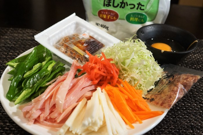 ■晩ご飯【長芋・納豆・卵入りお好み焼き】_b0033423_23053714.jpg