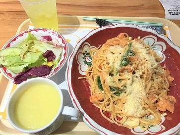 和風パスタと、ガラス瓶に入った固めのプリン☆Cafe Restaurant Kobe Kitanozaka in Taikoo_f0371533_18014981.jpg