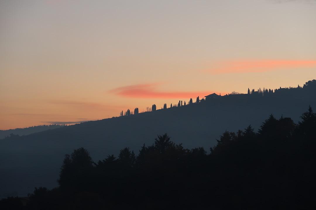 霧の秋夕空とカボチャ入りクリームシチュー_f0234936_06521348.jpeg