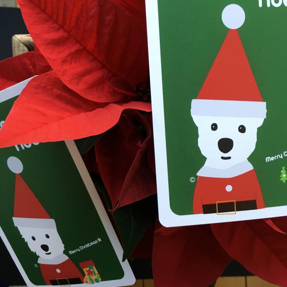 初めてのクリスマスポストカード_b0107163_12020701.jpg