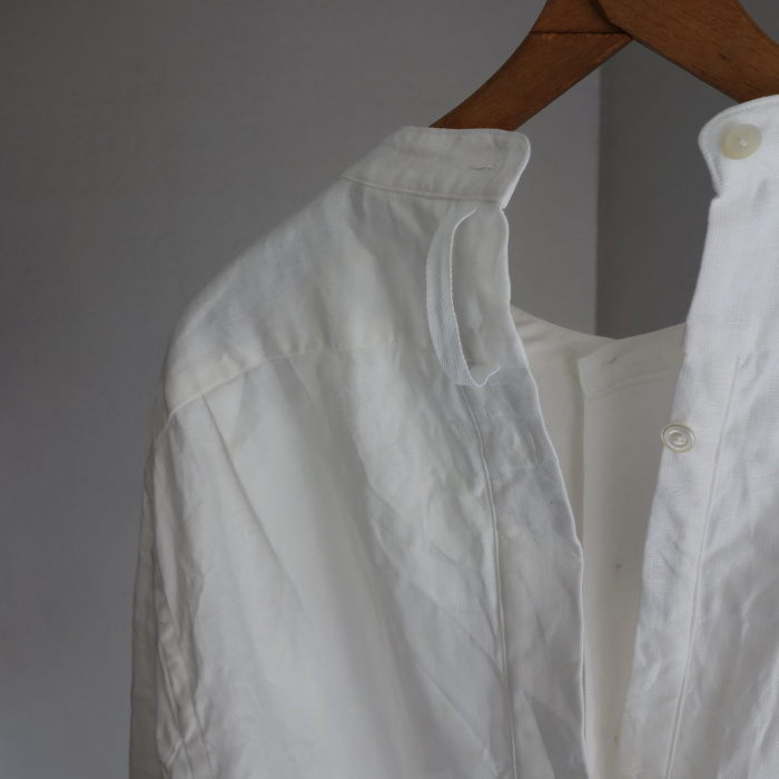 1月の製作 / antiqued irishlinen shirt_e0130546_12202470.jpg