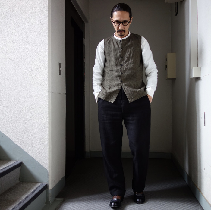 1月の製作 / antiqued irishlinen shirt_e0130546_12564751.jpg