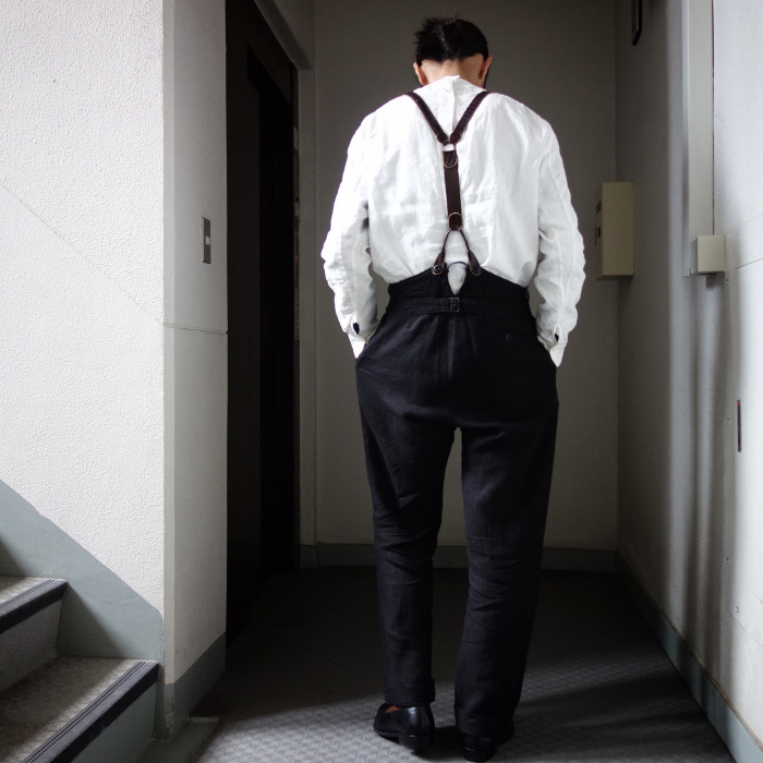 1月の製作 / antiqued irishlinen shirt_e0130546_12580882.jpg