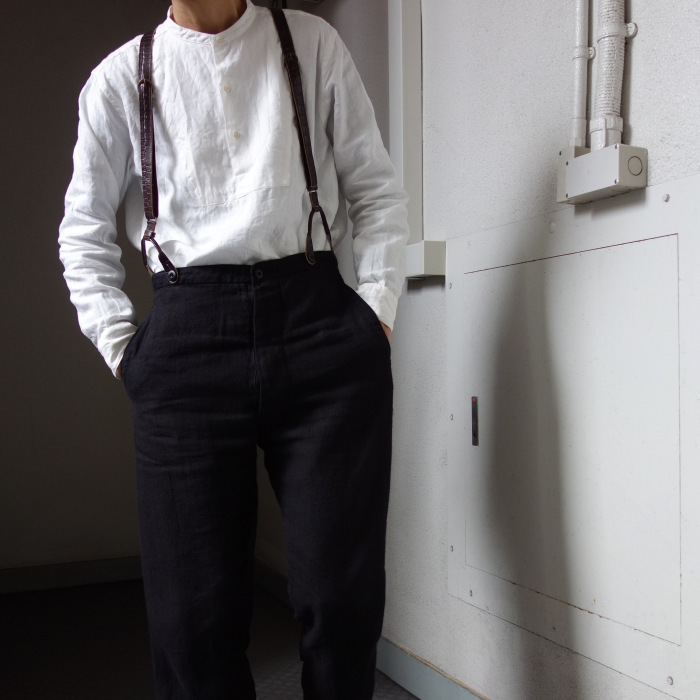 1月の製作 / antiqued irishlinen shirt_e0130546_12582393.jpg