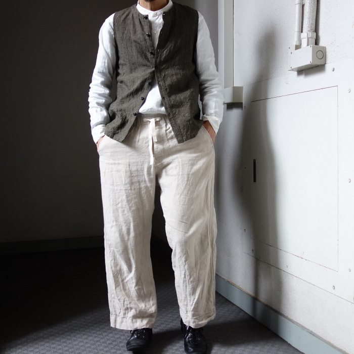 1月の製作 / antiqued irishlinen shirt_e0130546_12590979.jpg