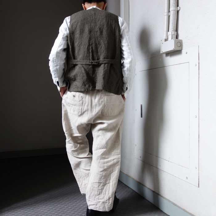 1月の製作 / antiqued irishlinen shirt_e0130546_12595347.jpg