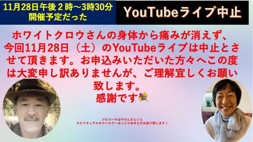 ☆YouTubeライブ☆11月28日キャンセル☆_a0110270_00041859.jpg