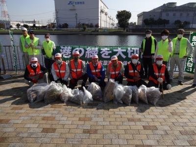 「港の緑を大切に」中川口緑地 環境美化運動の様子R2.10.29_d0338682_23284522.jpg