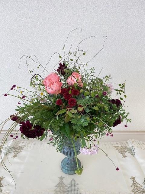 フラワーデザイン ロマンチックな花束_d0281783_09414069.jpg