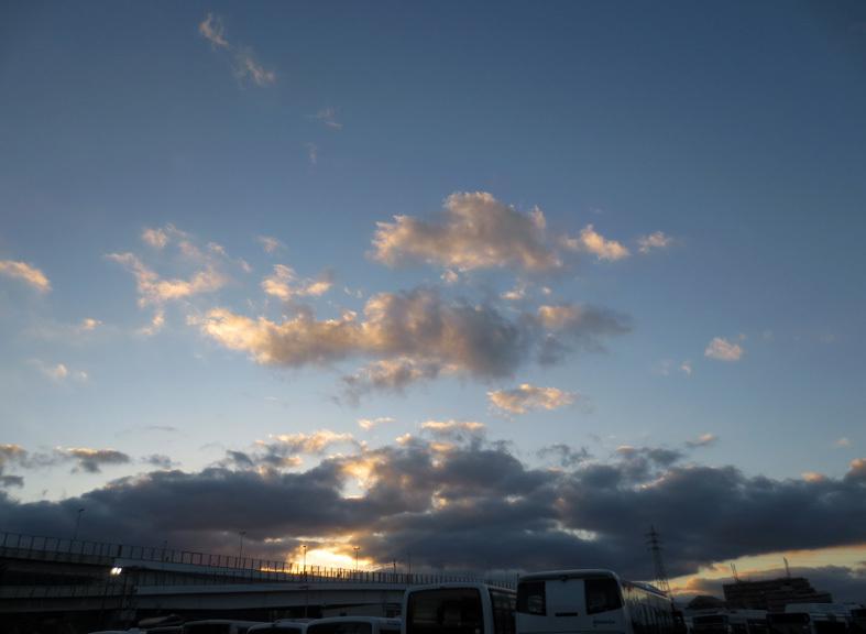 ■雲と空と──週替わりの夕暮れ[11/21・29]_d0190217_21084100.jpg