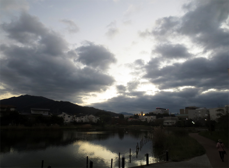 ■雲と空と──週替わりの夕暮れ[11/21・29]_d0190217_21090819.jpg