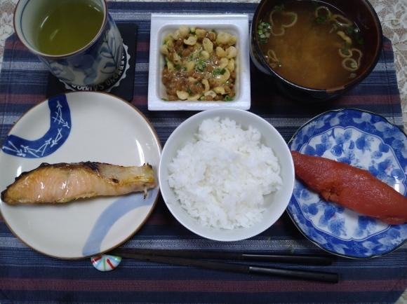11/29,30 国産時鮭塩焼甘口納豆定食@自宅_b0042308_11062420.jpg