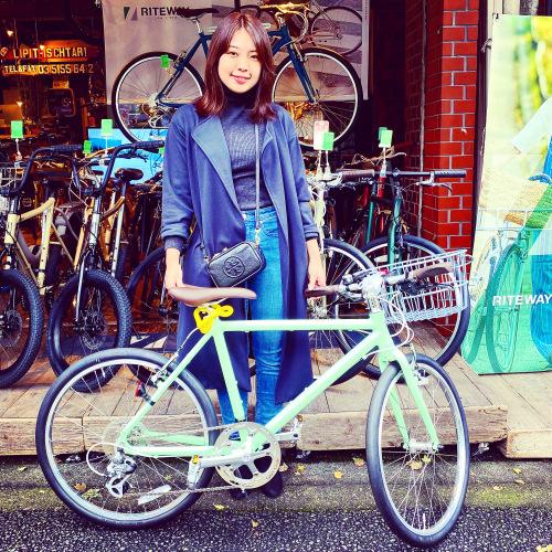 リピトの「本日のバイシクルガール」ライトウェイ特集☆自転車女子 自転車ガール 自転車ボーイ クロスバイク ライトウェイ おしゃれ自転車 マリン ターン シェファード パスチャー スタイルス_b0212032_17211350.jpeg