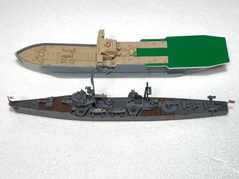 ピットロード 1/700 海防艦「日振」(完成)_b0055614_23463858.jpg