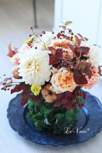 11月Living flower『Autumn deepening forest』_e0158653_14454565.jpg