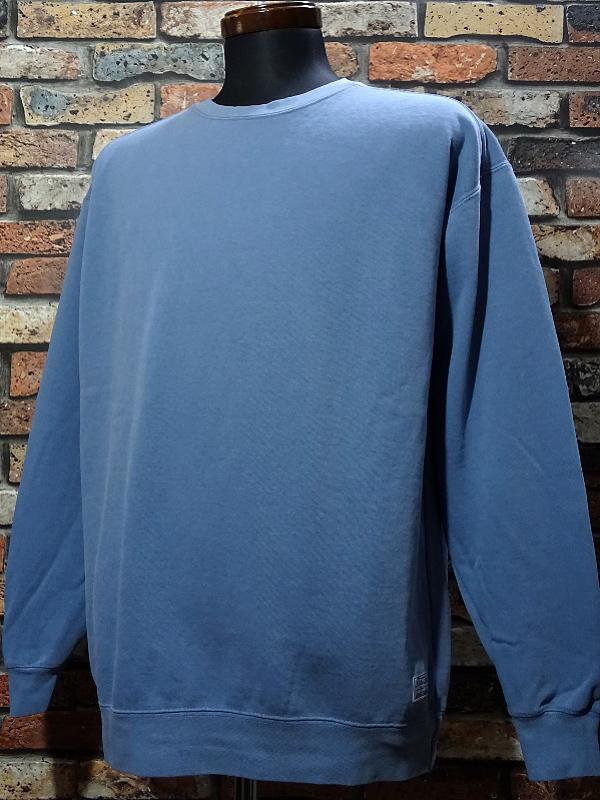 kustomstyle クルーネック スウェットトレーナー praise the lowered crewneck garment dye 後染め 10,780円(内税) 入荷_c0094761_12000659.jpg