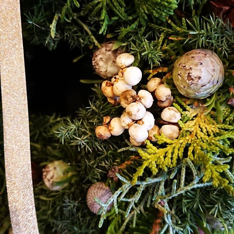 皆さんでクリスマスリースを作りましょうの会~。_a0160970_14141689.jpg
