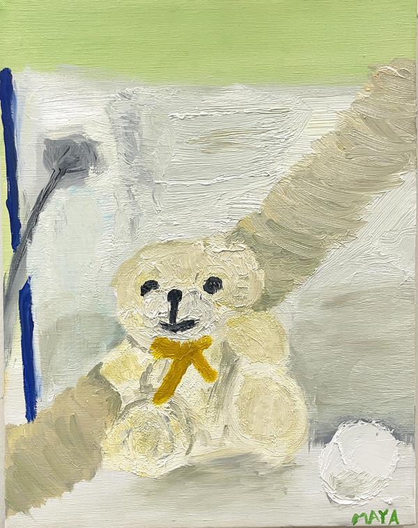 油絵「白い静物」_b0318098_18520306.jpg