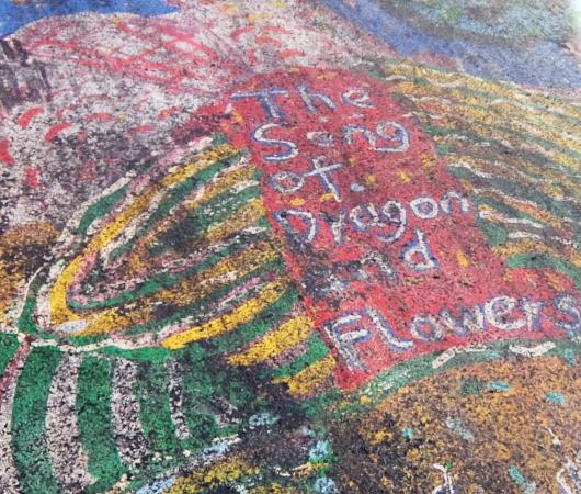 """かつてDoyers St.に描かれていた""""The Song of Dragon and Flowers""""(龍と花の歌)_b0007805_00264841.jpg"""