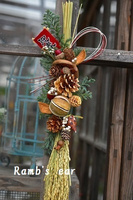 お正月飾りのレッスンの様子♪ お正月アレンジのご予約開始_e0128909_07402528.jpg