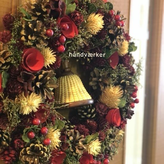 クリスマスリースとベルバスケット_f0197215_16264599.jpg