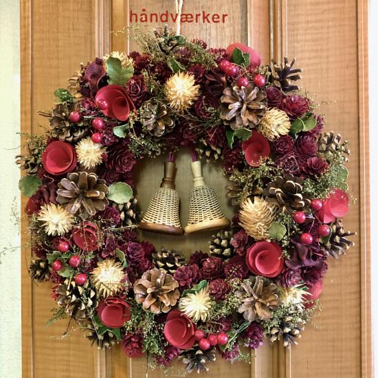 クリスマスリースとベルバスケット_f0197215_16264647.jpg