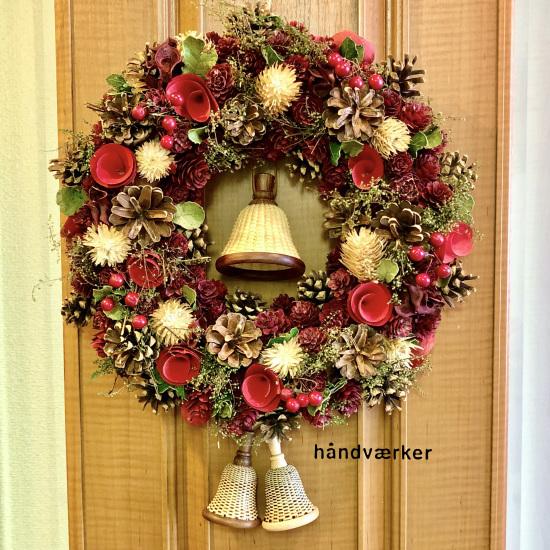 クリスマスリースとベルバスケット_f0197215_17025041.jpg