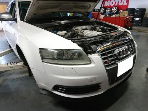 ハイパワーエンジンは何かと大変!! Audi S6_c0219786_15112040.jpg