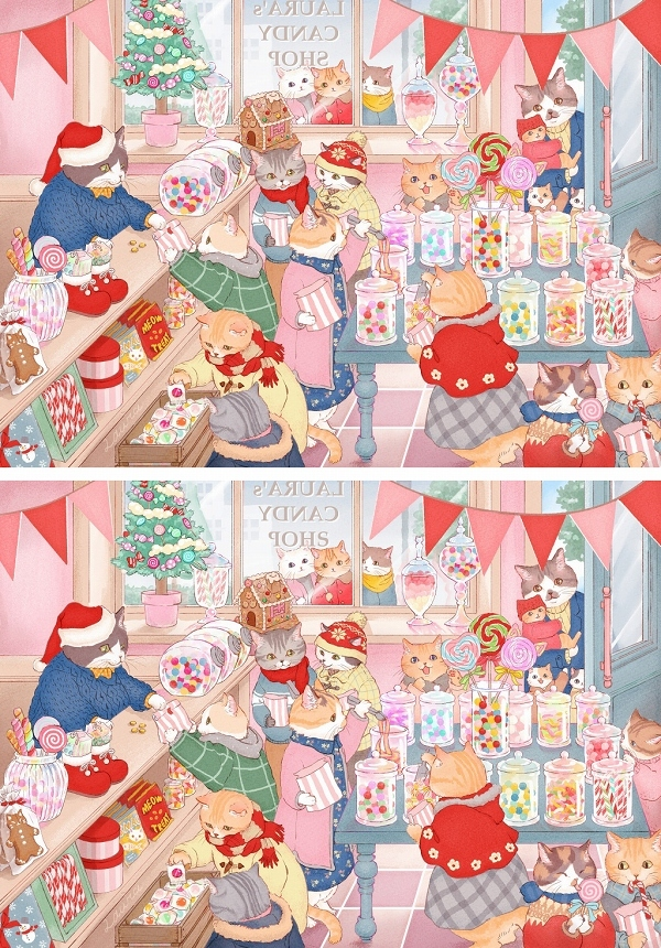 アドベントキャンドル2週目、キャンディショップの猫たち_d0025294_19170097.jpg